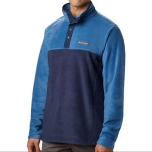 NEW Columbia Steens Mountain Snap Pullover S Blue